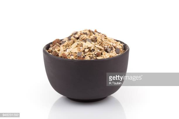 muesli cereals with chocolate - cereal plant stock photos and pictures