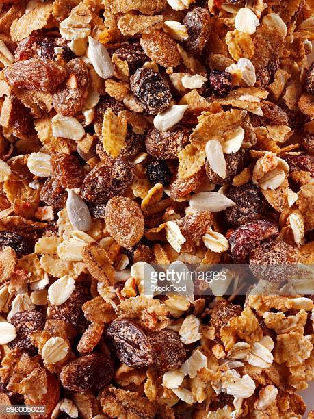 Muesli mixture with dried cranberries and dates
