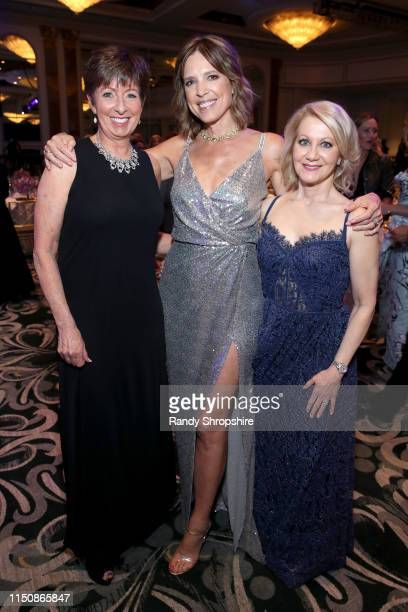 Muffet McGraw Hannah Storm and Andrea Kremer at the 44th Annual Gracies Awards hosted by The Alliance for Women in Media Foundation on May 21 2019 at...