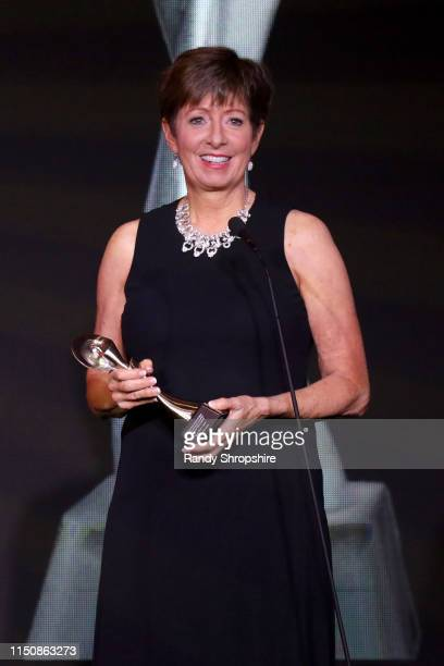 Muffet McGraw speaks onstage at the 44th Annual Gracies Awards, hosted by The Alliance for Women in Media Foundation on May 21, 2019 at the Four...