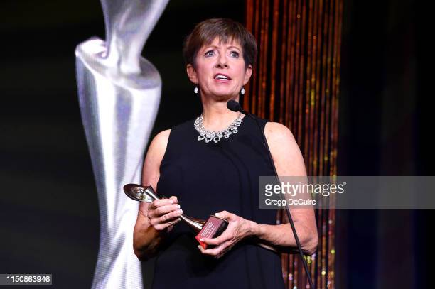Muffet McGraw speaks onstage at the 44th Annual Gracies Awards hosted by The Alliance for Women in Media Foundation on May 21 2019 at the Four...