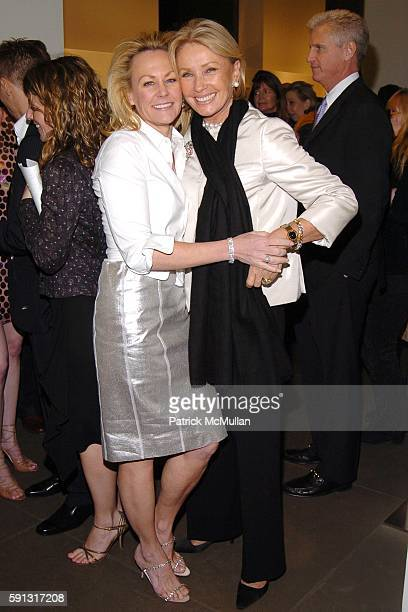 Muffie Potter Aston and Adrienne Vittadini attend Calvin Klein hosts a party to celebrate Bryan Adams' new photo book American Women to benefit The...