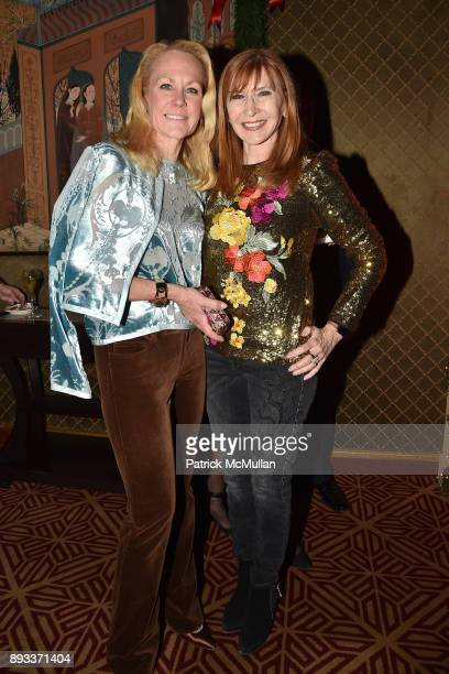 Muffie Potter Aston and Nicole Miller attend A Christmas Cheer Holiday Party 2017 Hosted by George Farias Anne and Jay McInerney at The Doubles Club...
