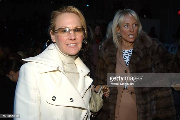 Muffie Potter Aston and Pamela Gross Finkelstein attend Douglas Hannant Fall 2005 Fashion Show at The Plaza at Bryant Park on February 9 2005 in New...