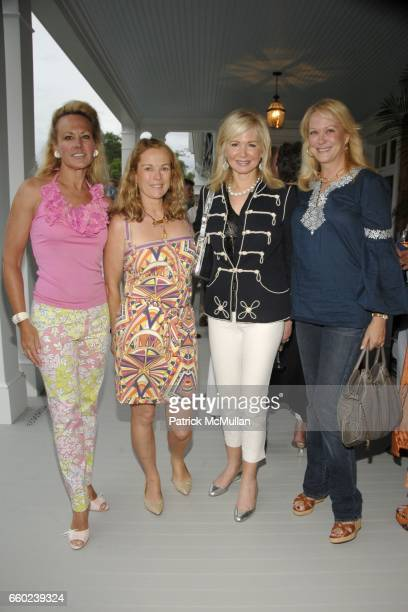 Muffie Potter Aston Anne Hearst McInerney Hilary Geary Ross and Nina Griscom attend the Kickoff Party for the 2009 Alzheimer's Association Rita...