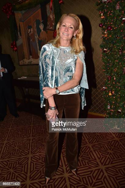 Muffie Potter Aston attends A Christmas Cheer Holiday Party 2017 Hosted by George Farias Anne and Jay McInerney at The Doubles Club on December 14...