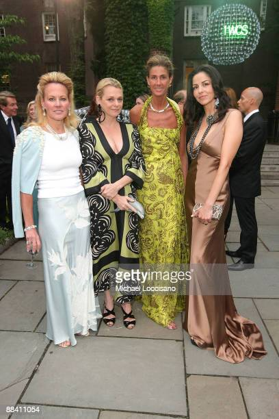 Muffie Potter Aston Debbie Bancroft Somers Farkas and Daisy Kanavos attend the celebration of the snow leopards new home hosted by the Wildlife...