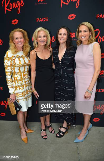 Muffie Potter Aston Wendy Finerman Leslie Finerman and Karen Finerman attend Richard Kirshenbaum's Book Party ROUGE at Pace Gallery on June 5 2019 in...