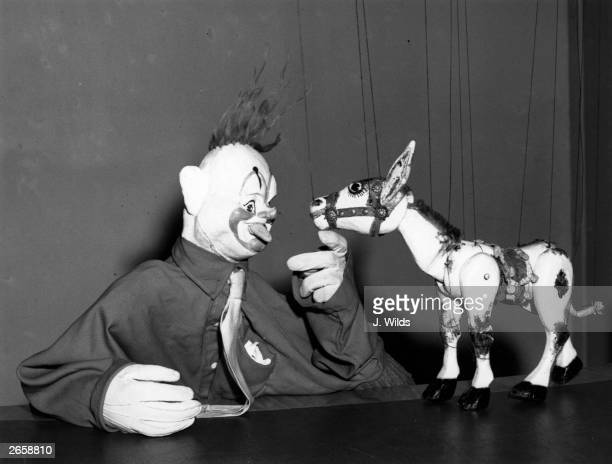 Muffin the Mule with his television partner Rufus the Clown