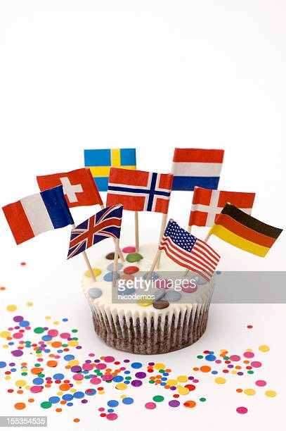 Muffin With Flags