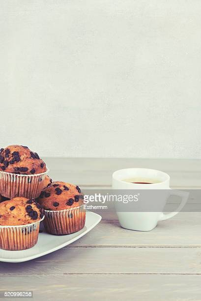 muffin with mug of coffe