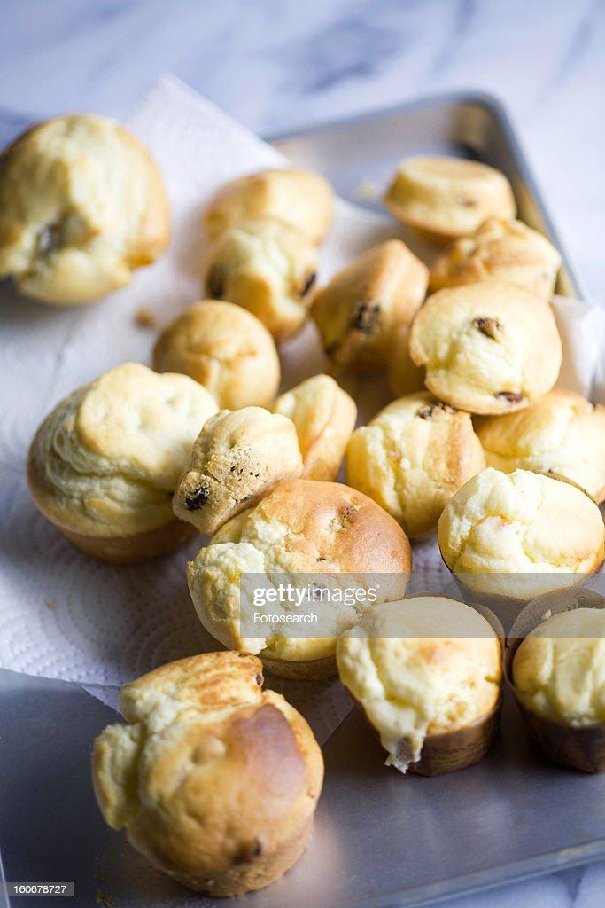 Muffin with raisins : Stock Photo