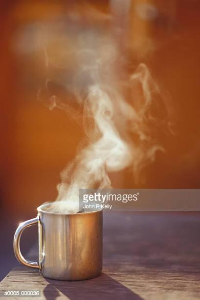 Mug of Steaming Hot Coffee