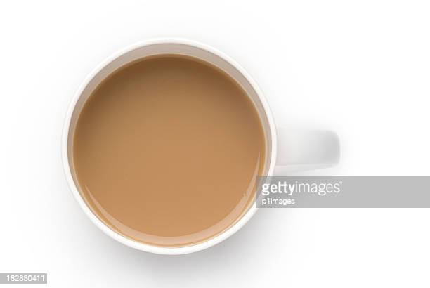 Mug of white coffee