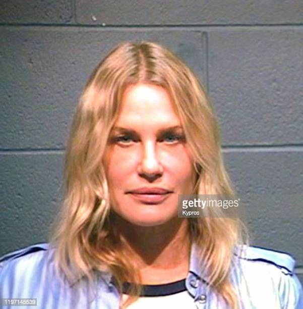 A mug shot of American actress and activist Daryl Hannah following her arrest in Texas during a protest against the construction of an oil pipeline...