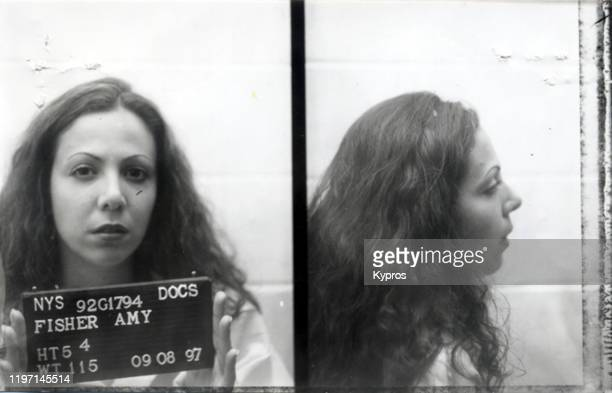 A mug shot of Amy Fisher during her incarceration by the New York State Department of Correctional Services for the shooting of Mary Jo Buttafuoco...