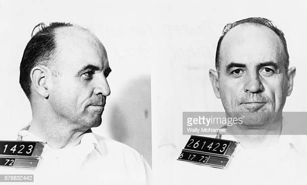 Mug shot of Edward Martin alias James W McCord after being booked for the 1972 Watergate breakin