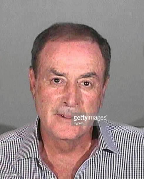 A mug shot of NBC sports announcer Al Michaels following his arrest in Santa Monica California for drink driving April 2013