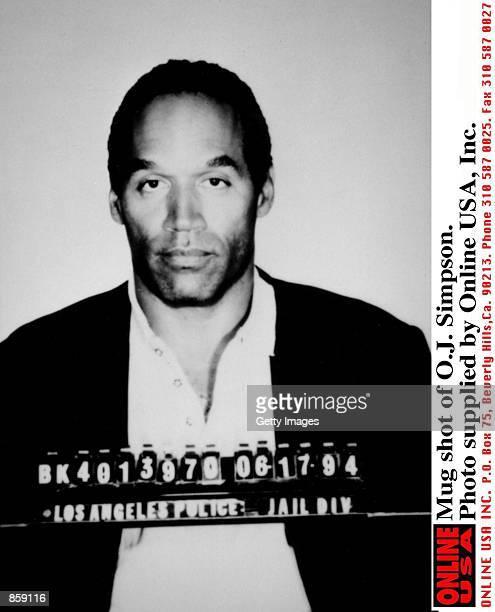 Mug shot of OJ Simpson