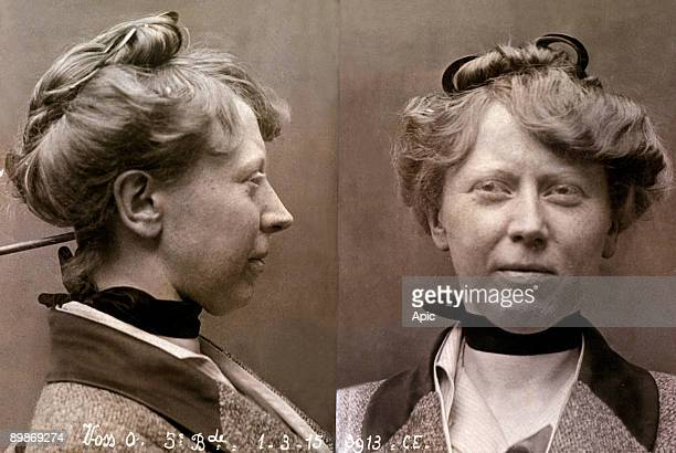 Mug shot of Ottilie Voss german spy shot in Bourges on may 16 1915