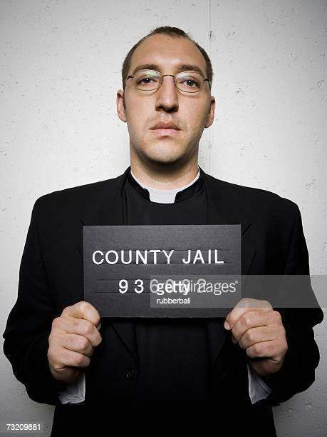 mug shot of priest with glasses - pastor stock pictures, royalty-free photos & images