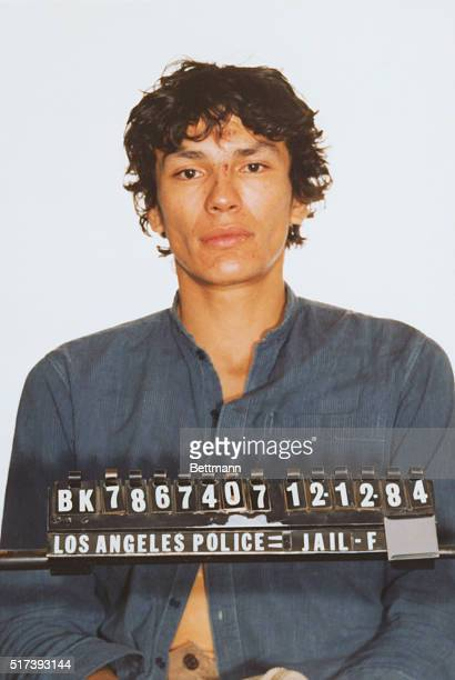 A mug shot of the Night Stalker serial killer who perpetrated a series of brutal murders in the Los Angeles area in 1984 and 1985