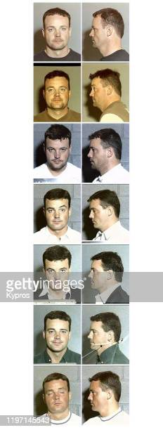 Mug shots of John Wayne Bobbitt after he was arrested seven times by the Las Vegas police for numerous offences between 1994 and 2002