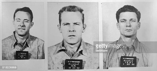 Mug shots of three prisoners that made a rare escape from Alcatraz Island From left to right Clarence Anglin John William Anglin and Frank Lee