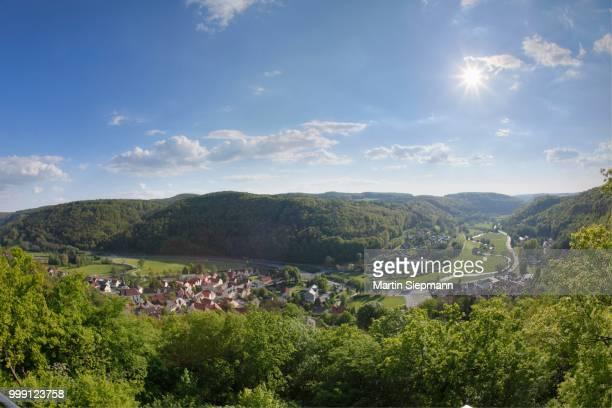 Muggendorf, market town of Wiesenttal area, Franconian Switzerland, Upper Franconia, Franconia, Bavaria, Germany