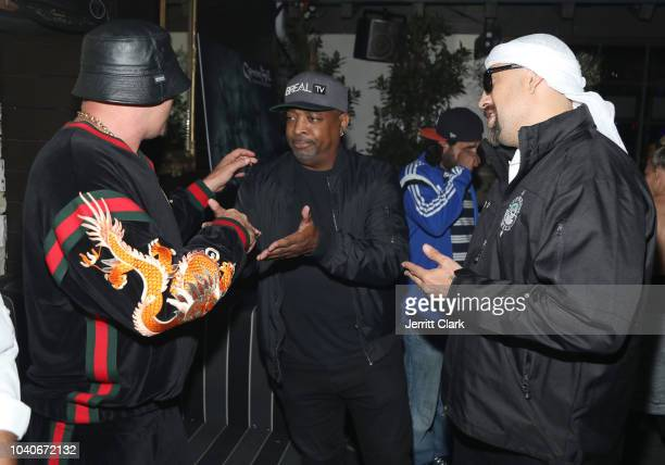 Muggs Chuck D and BReal attend the Cypress Hill Album Release Release Party at Le Jardin on September 25 2018 in Hollywood California