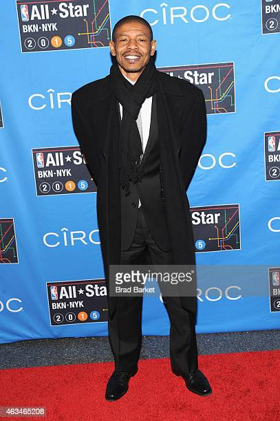 Muggsy Bogues attends State Farm AllStar Saturday Night NBA AllStar Weekend 2015 at Barclays Center on February 14 2015 in New York New York