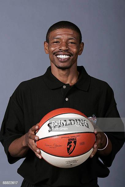 Muggsy Bogues who was named Charlotte Sting Head Coach poses on August 3 2005 at the Charlotte Bobcats Training Center in Fort Mill South Carolina...