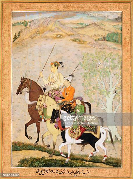 Mughal Miniature Painting Depicting the Three Sons of Emperor Shah Jahan by Balchand
