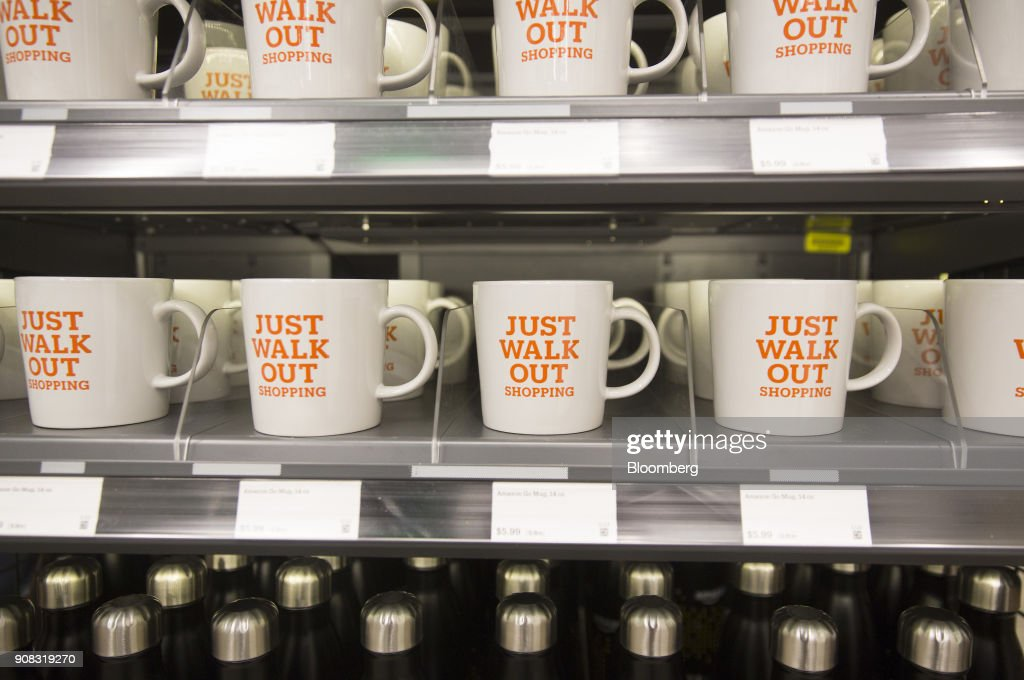 Inside The New Amazon Go Cashierless Convenience Store : News Photo