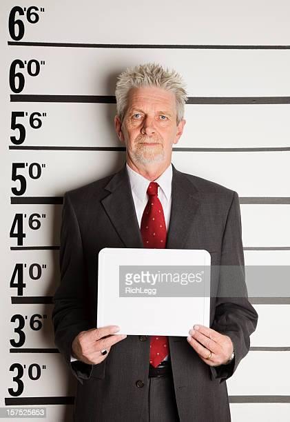 Ein Geschäftsmann Mugshot