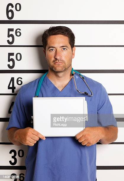 mugshot of a healthcare worker - nursing slogans stock photos and pictures