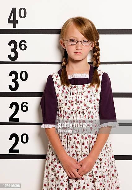 Mugshot of a Little Girl