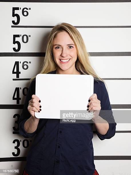 Mugshot einer Schule Mädchen