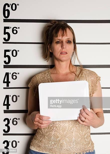 Mugshot einer Frau