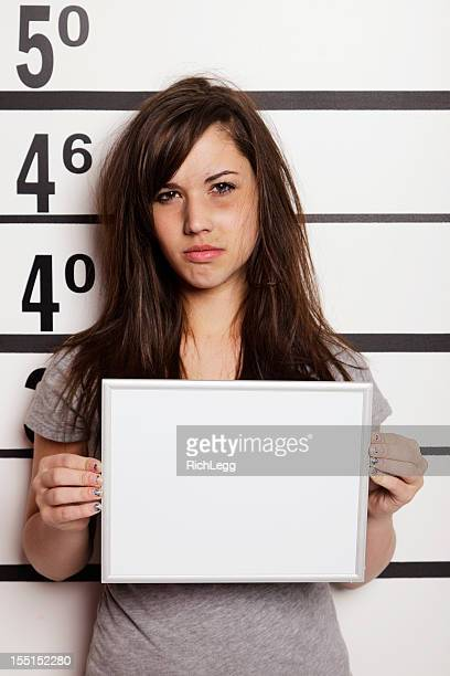 Mugshot of a Woman