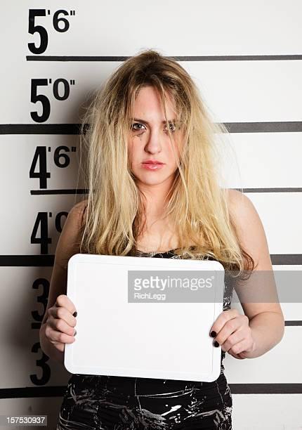mugshot de uma mulher - prostituta - fotografias e filmes do acervo