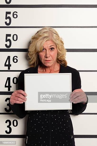 Mugshot of a Woman