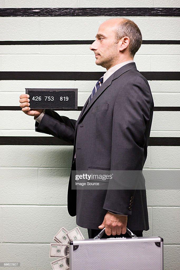 Mugshot of businessman : Stock Photo