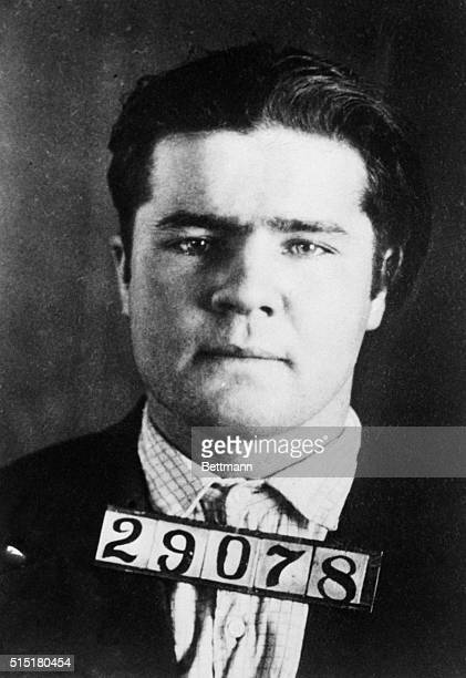 Mugshot of gangster Charles 'Pretty Boy' Floyd wanted in connection with the killing of one policeman and the wounding of another during the hold up...