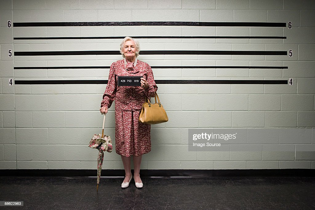 MUgshot of senior woman : Stockfoto