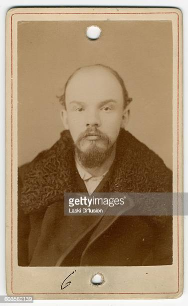 A mugshot of Vladimir Ilyich Ulyanov Lenin during his arrest in connection with the case of the St Petersburg 'League of Struggle for the...