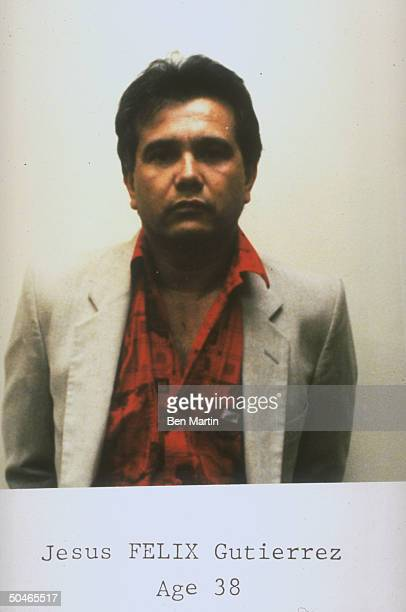 Mugtype shot of Jesus Felix Gutierrez allegedly 1 of killers of DEA agent Enrique Camarena murdered by Mexican drug lords in 1985