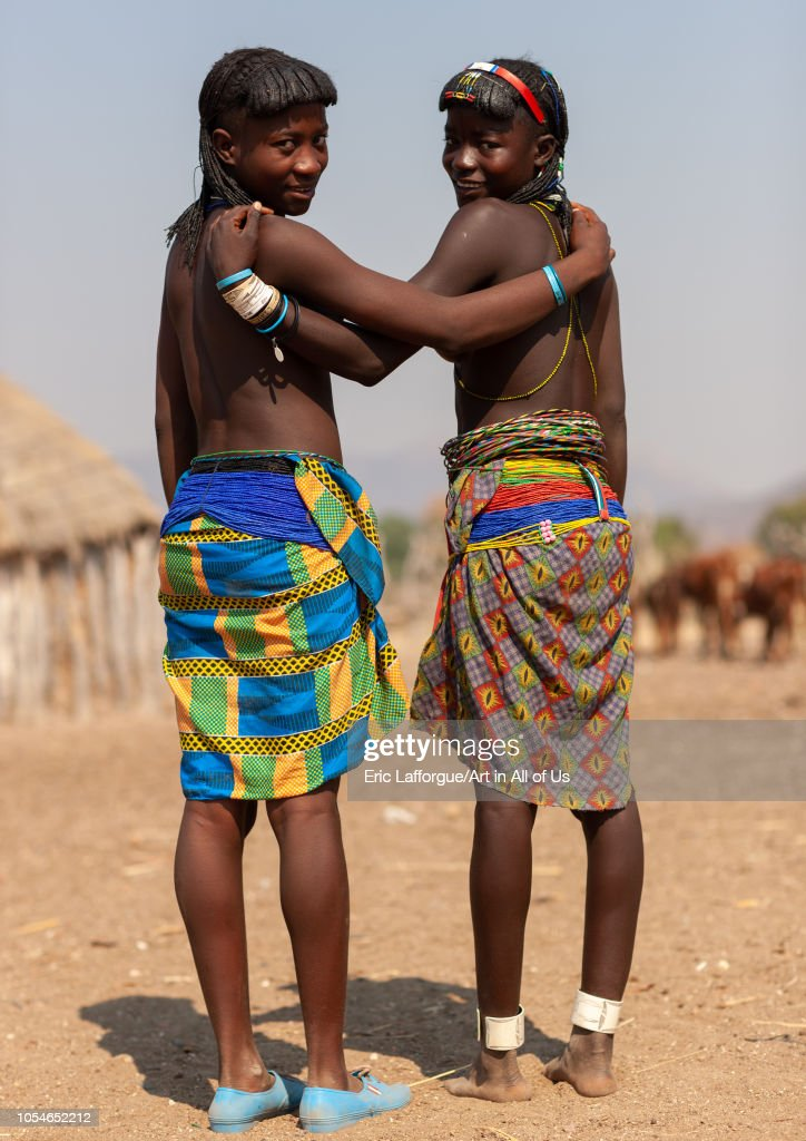 Muhacaona tribe women, Cunene Province, Oncocua, Angola on August 16