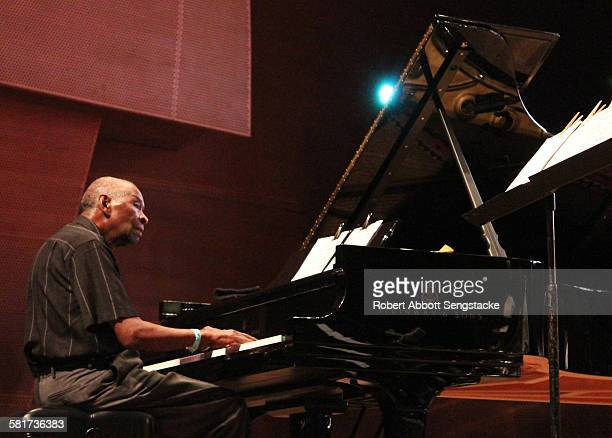 Muhal Richard Abrams and his Experimental Band, performing during the 37th Annual Chicago Jazz Festival, at the Pritzker Pavilion, in Millennium...