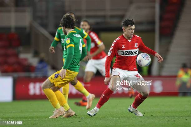 Muhamed Beic of Middlesbrough during the Sky Bet Championship match between Middlesbrough and Preston North End at the Riverside Stadium...